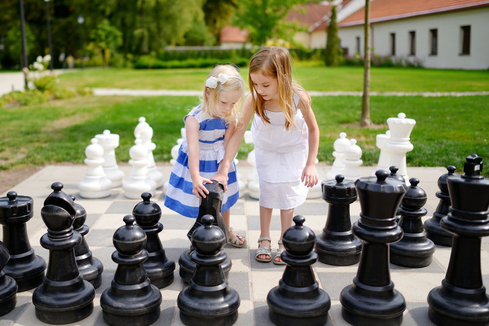 Шахматы в парке занятия