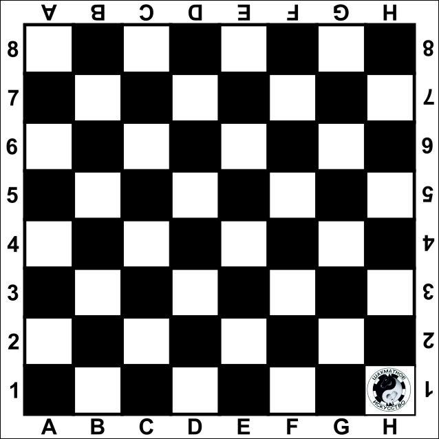 Распечатать шахматную доску