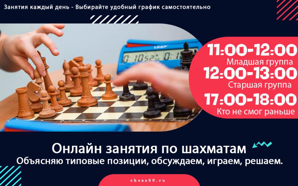 Дистанционные занятия по шахматам