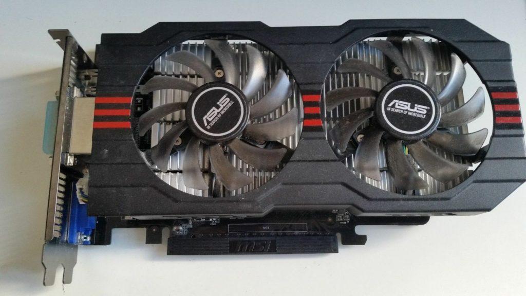 gtx 750ti два вентилятора